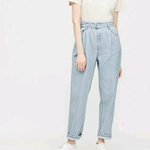 UNIQLO High Waisted Tapered Jeans with Belt